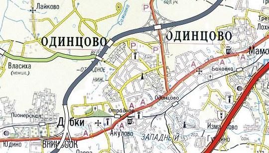 дороги в объезд Одинцово