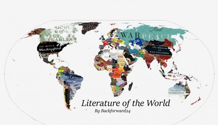 Карта самых читаемых произведений в мире
