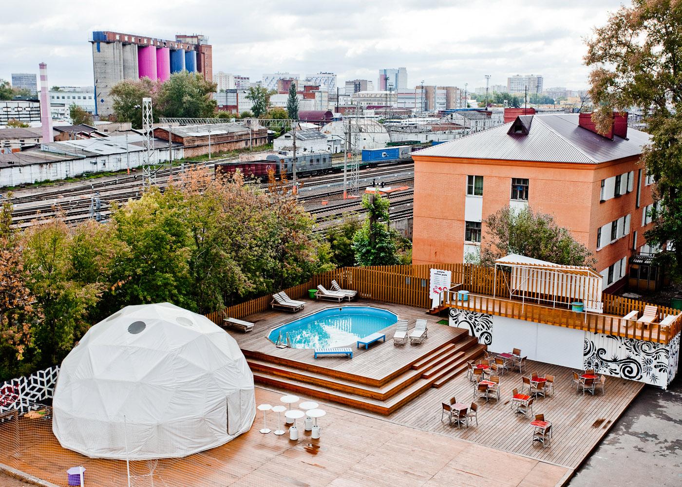 Дизайн завод флакон бассейн